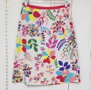 Boden floral pattern skirt size 4
